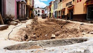 SE REHABILITAN TRES CALLES DEL PRIMER CUADRO DE GUADALUPE