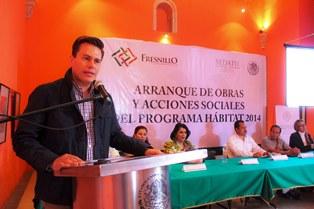 ARRANCA EL PROGRAMA DE OBRAS Y ACCIONES DE HABITAT 2014