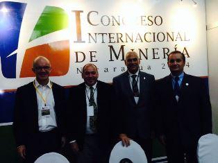 ÉXITO DURANTE CONGRESO INTERNACIONAL DE MINERÍA EN NICARAGUA