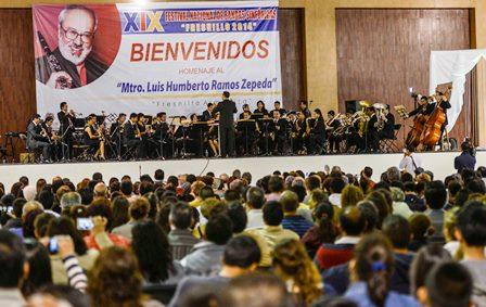 INAUGURA BMQ ACTIVIDADES DEL XIX FESTIVAL NACIONAL DE BANDAS SINFÓNICAS FRESNILLO 2014