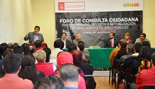 REALIZAN FORO DE CONSULTA PARA ACTUALIZACIÓN DE REGLAMENTO DE ASEO PÚBLICO