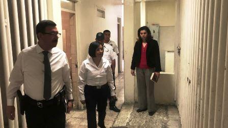 Presidenta de la CDHEZ revisa separos preventivos de Zacatecas