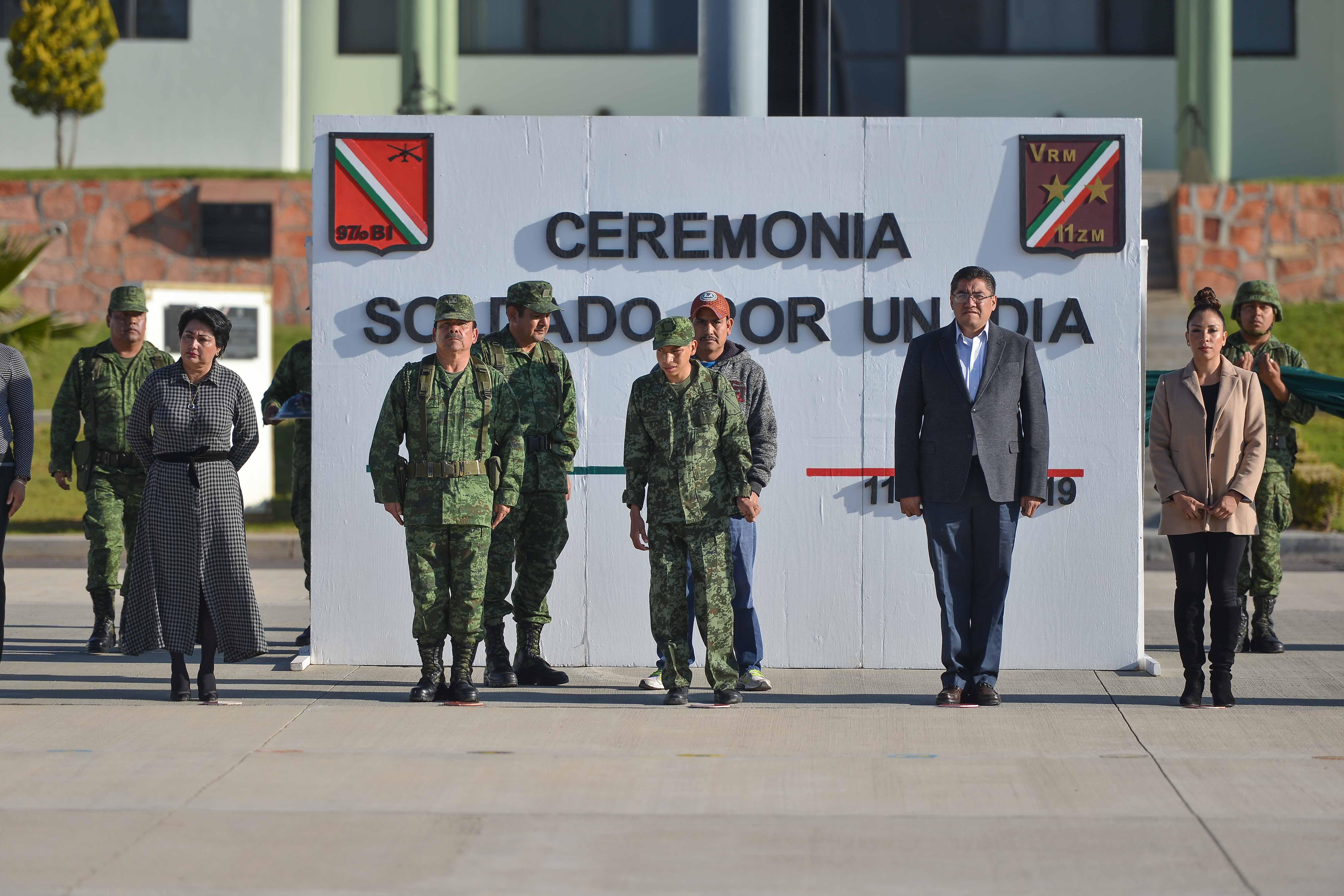 """ENCABEZA SAÚL MONREAL EL PROGRAMA """"SOLDADO POR UN DÍA"""", EN INSTALACIONES MILITARES"""
