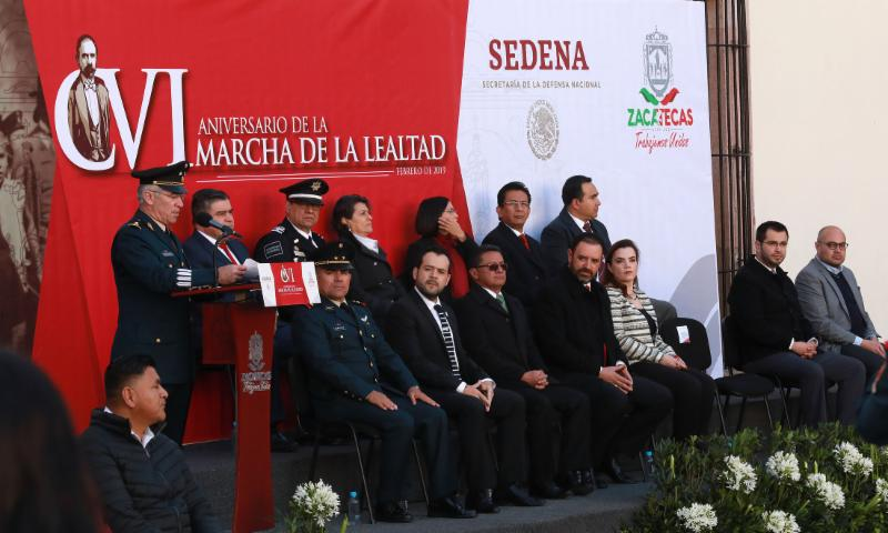 CONMEMORAN GOBERNADOR TELLO Y AUTORIDADES MILITARES MARCHA DE LA LEALTAD