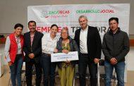 CUMPLE GOBIERNO ESTATAL CON ENTREGA DE APOYOS DE EMPLEO TEMPORAL EN MUNICIPIOS