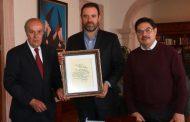 RECIBE GOBERNADOR TELLO DOCUMENTO ORIGINAL ACERCA DEL ORIGEN DE LA MARCHA ZACATECAS
