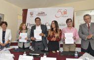FIRMAN CONVENIO LA ADMINISTRACIÓN MUNICIPAL Y CENTROS DE INTEGRACIÓN JUVENIL