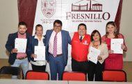 ENTREGAN CERTIFICADOS ECO105 A SERVIDORES PUBLICOS DEL AYUNTAMIENTO DE FRESNILLO