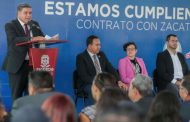 RINDE INFORME SECRETARIO DE SEGURIDAD PÚBLICA SOBRE CUMPLIMIENTO DEL CONTRATO CON ZACATECAS