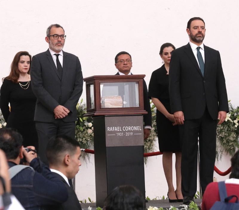 PUEBLO Y ESTADO DE ZACATECAS DAN EL ÚLTIMO ADIÓS AL MAESTRO RAFAEL CORONEL