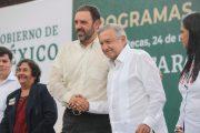 PIDE GOBERNADOR AL PRESIDENTE DESTINAR RECURSOS DEL FONDO MINERO A MANTENIMIENTO DE CARRETERAS, ASÍ COMO CONSTRUIR EL SISTEMA MILPILLAS Y UNA UNIVERSIDAD EN PINOS