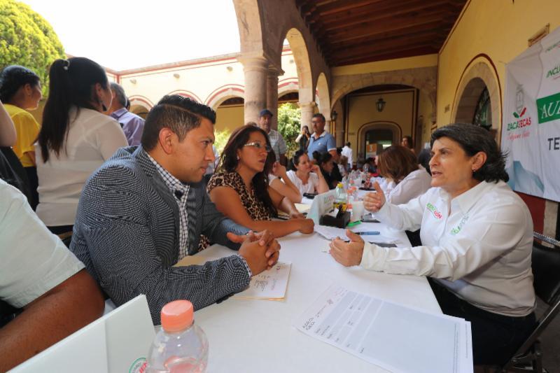 DEPENDENCIAS ESTATALES ENCABEZADAS POR MUJERES OFRECEN AUDIENCIA PÚBLICA EN TEÚL DE GONZÁLEZ ORTEGA