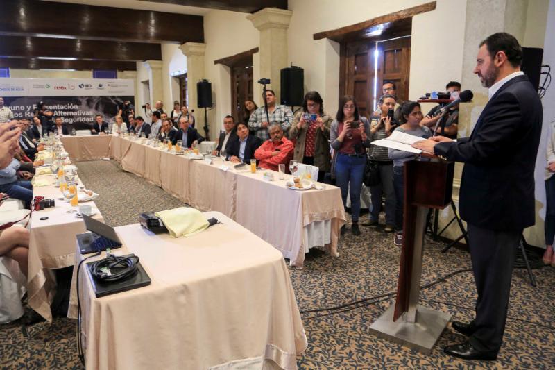 GOBIERNO ESTATAL, ORGANISMOS INTERNACIONALES Y EMPRESARIOS SE UNEN PARA DAR MAYOR SEGURIDAD HÍDRICA A ZACATECAS