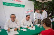 REALIZA SECRETARÍA DE OBRAS PÚBLICAS CUARTA AUDIENCIA PÚBLICA EN SOMBRERETE