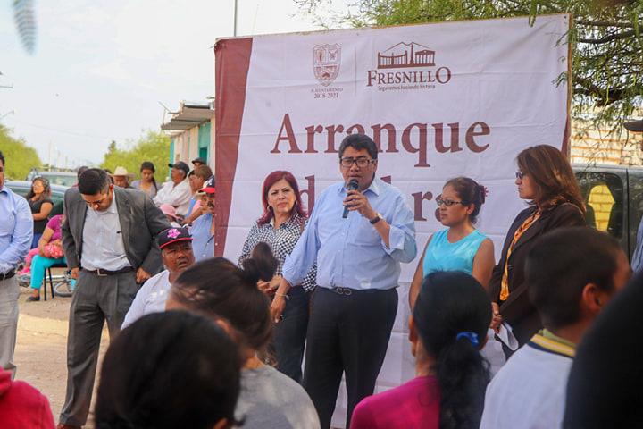CON MÁS DE 8 MDP ARRANCA CONSTRUCCIÓN DE OBRAS EN COMUNIDADES DE FRESNILLO