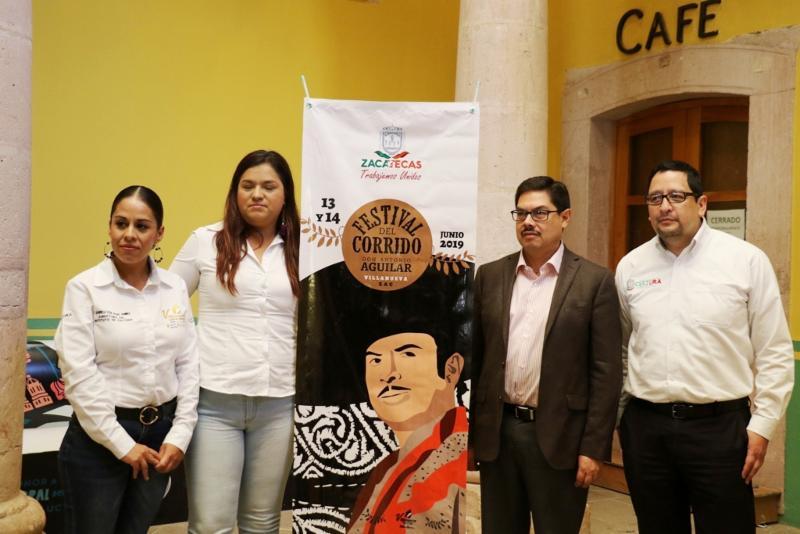 PRESENTAN PROGRAMA DEL 6º FESTIVAL DEL CORRIDO A DON ANTONIO AGUILAR BARRAZA