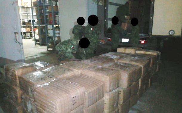 Ejército Mexicano asegura más de tres toneladasy media de marihuana en el Estado de Zacatecas.