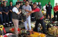 CON LA ENTREGA DE EQUIPO SE FORTALECE EL CUERPO DE BOMBEROS DE 30 MUNICIPIOS