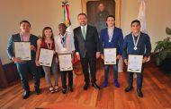 RECONOCE GOBERNADOR TELLO A MEDALLISTAS ZACATECANOS QUE PARTICIPARON EN JUEGOS PANAMERICANOS DE PERÚ