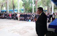 INAUGURA SAÚL MONREAL DOMO EN EL BACHILLERATO JOSÉ SANTOS VALDÉS DE LA COMUNIDAD EL SALTO
