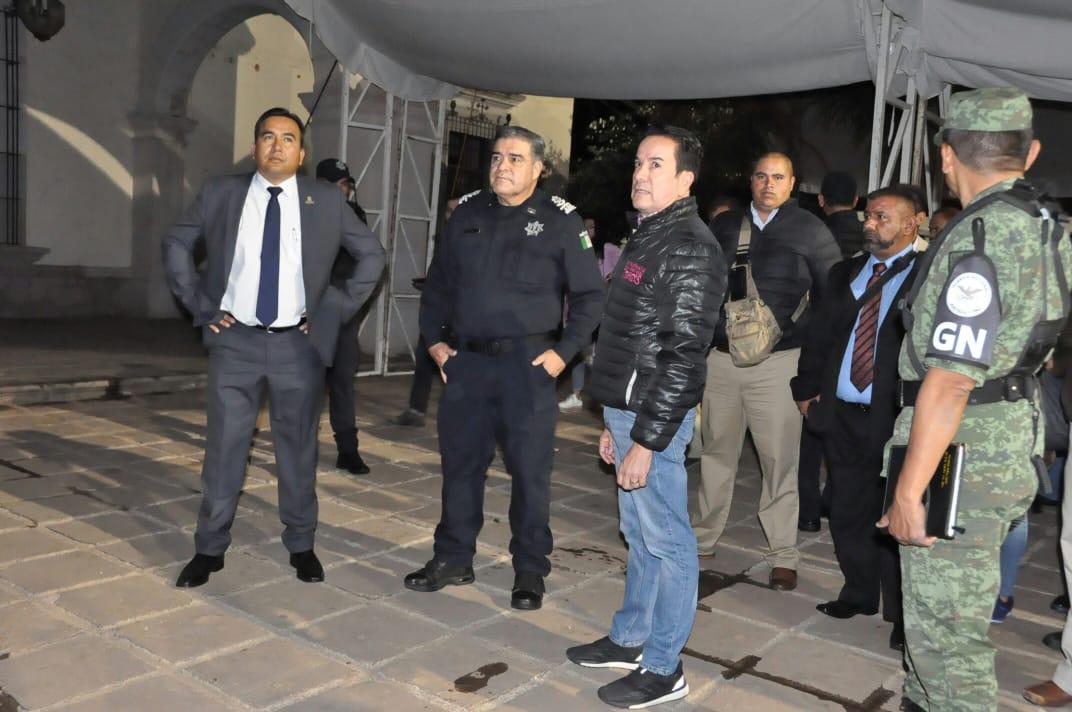AUTORIDADES DE LOS TRES ÓRDENES DE GOBIERNO VERIFICAN LA SEGURIDAD DE INSTALACIONES DE LA FENAZA