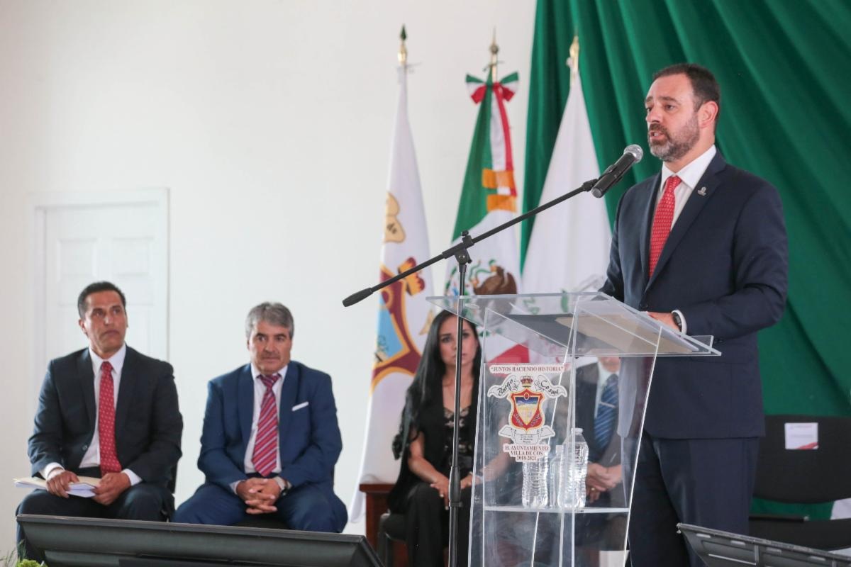 VAYAMOS UNIDOS POR VILLA DE COS, EXHORTA TELLO