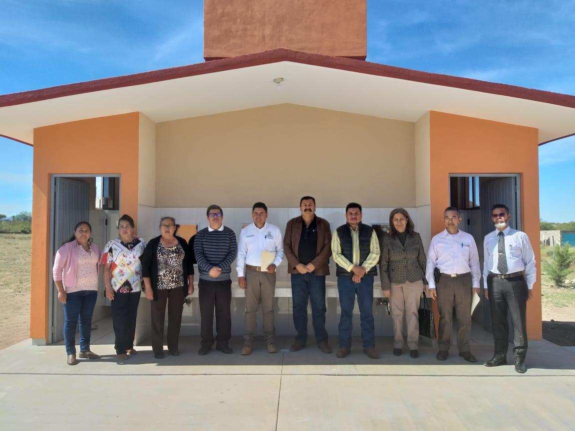 Inauguran un módulo de sanitarios en la primaria de la Comunidad Ramón López Velarde en Fresnillo