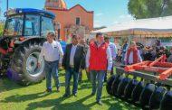 AGROPRODUCTORES DE PÁNUCO RECIBEN ARADOS, REMOLQUES, MOLINOS Y TUBERÍA DE CONDUCCIÓN