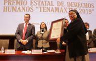 """Villa Infantil de Fresnillo recibe el Premio Estatal de Derechos Humanos """"Tenamaxtle 2019"""""""