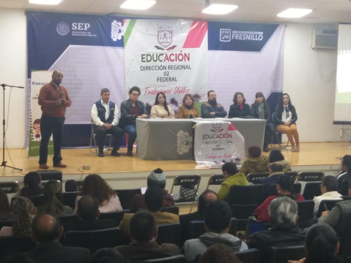 Presentan el Programa Escolar de Protección Civil para escuelas de Fresnillo y Cañitas de Felipe Pescador