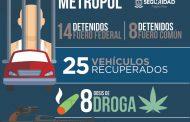 ASEGURAN CORPORACIONES POLICIALES A 37 PERSONAS, 16 ARMAS Y 617 CARTUCHOS