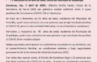 CONFIRMA SECTOR SALUD ESTATAL OTROS DOS CASOS POSITIVOS DE CORONAVIRUS EN ZACATECAS