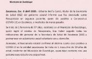 DECRETA SECTOR SALUD ESTATAL AL SEGUNDO PACIENTE RECUPERADO DE CORONAVIRUS EN ZACATECAS