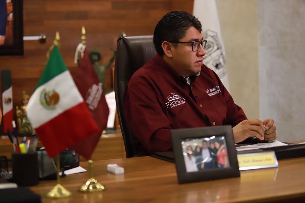ALERTA EL ALCALDE SAÚL MONREAL SOBRE LLAMADAS DE EXTORCIÓN A COMERCIANTES