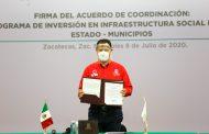 GOBIERNO Y MUNICIPIOS ACUERDAN INVERTIR 191 MDP EN INFRAESTRUCTURA SOCIAL BÁSICA PARA REACTIVAR LA ECONOMÍA