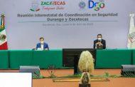 ACUERDAN GOBERNADORES DE ZACATECAS Y DURANGO FORTALECER ESTRATEGIA CONJUNTA DE SEGURIDAD