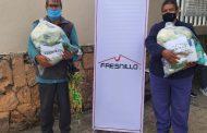 Fresnillo plc contribuye con paquetes alimentarios a familias fresnillenses