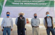 ENTREGAN PAGO DEL SEGURO CATASTRÓFICO A AGRICULTORES EN SANTIAGUILLO