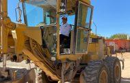 Arranque de obra de pavimentación de calle en Comunidad de Charco Blanco