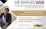 REALIZARÁ GOBIERNO ESTATAL FORO DEL EMPLEO MINERO; OFERTARÁN MÁS DE 250 VACANTES