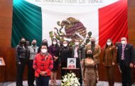 La LXIII Legislatura recuerda, con un minuto de silencio, a Lidia Méndez Rangel
