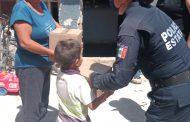 ENTREGA POLICÍA ESTATAL DESPENSAS A FAMILIAS VULNERABLES