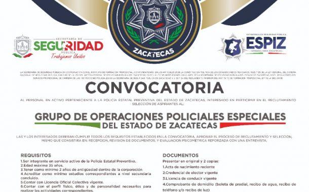 LANZA SSP CONVOCATORIA PARA UNIRSE A GRUPO DE OPERACIONES POLICIALES ESPECIALES