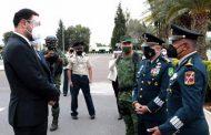 ENCABEZA GOBERNADOR TELLO TOMA DE PROTESTA DE NUEVO COMANDANTE DE LA XI ZONA MILITAR