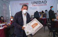 David Monreal va por gubernatura de Zacatecas; registra precandidatura en Morena