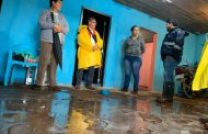 Autoridades Municipales se hacen presentes en comunidades afectadas por intensas lluvias.