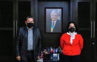 Se reúnen el gobernador electo David Monreal y María del Rocío García, titular del Sistema Nacional DIF
