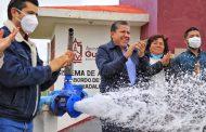 Inauguran Gobernador David Monreal y Alcalde Julio César Chávez sistema de agua potable en El Bordo de Buenaventura