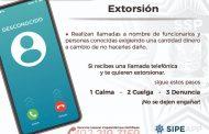 Alerta Mesa Estatal de Construcción de Paz y Seguridad sobre modalidad de extorsión telefónica
