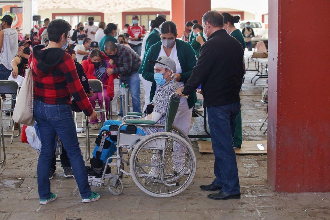 Garantizan Gobiernos de México y Zacatecas vacunación contra el COVID-19 a rezagados